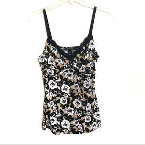White House Black market rose print cami
